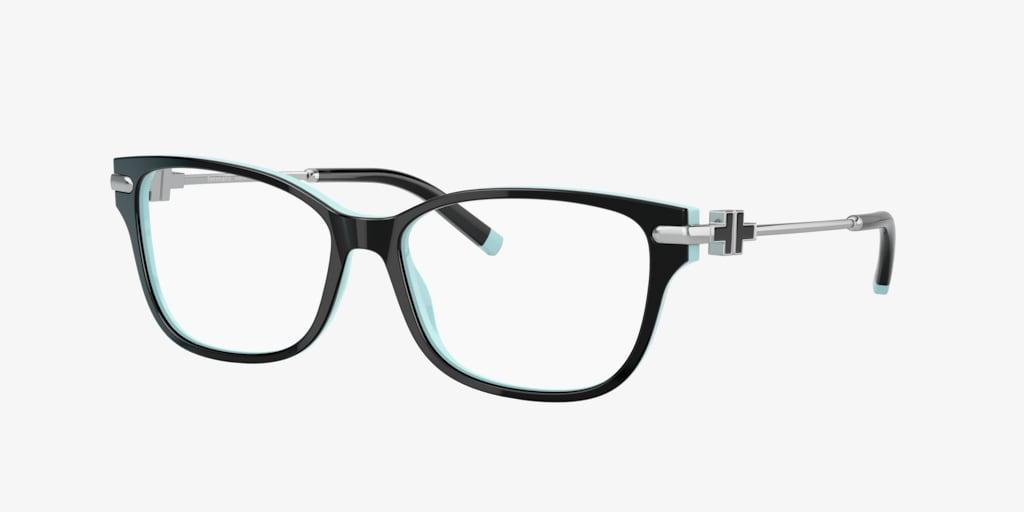 Tiffany TF2207 Black On Tiffany Blue Eyeglasses
