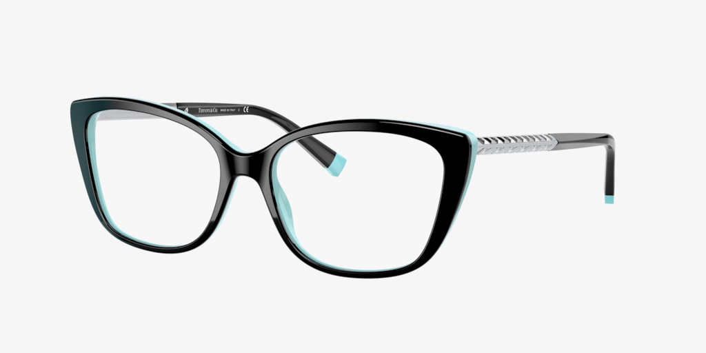 Tiffany TF2208B Black on Tiffany Blue Eyeglasses