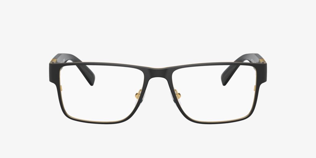 Versace VE1274 Matte Blak/Gold Eyeglasses