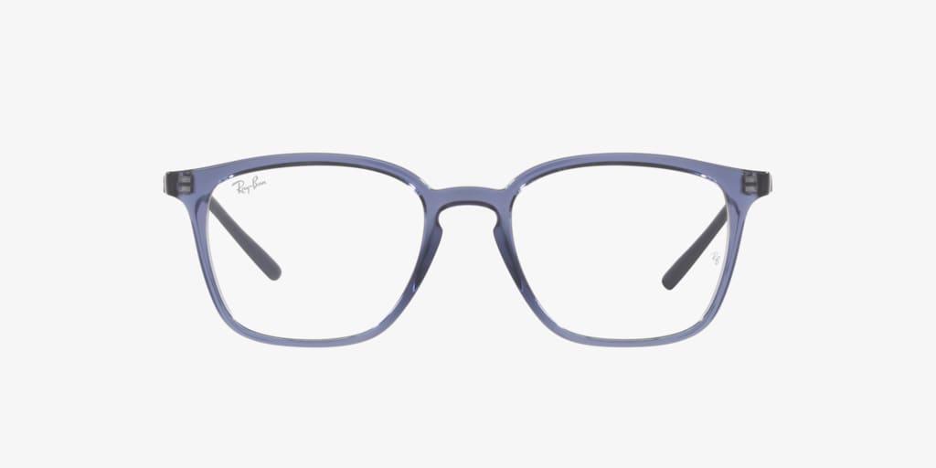 Ray-Ban RX7185 Transparent Violet Eyeglasses