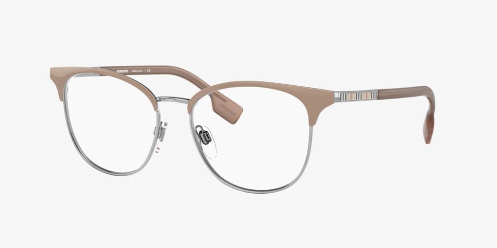 Burberry BE1355 Brown On Silver Eyeglasses