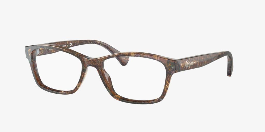 Ralph RA7108 Shiny Dark Havana Glitter Eyeglasses
