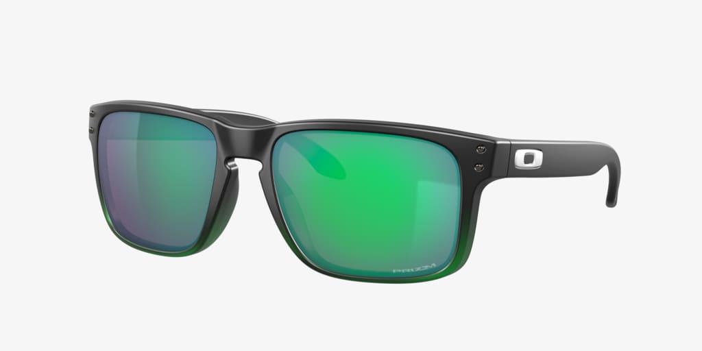Oakley HOLBROOK Matte Black On Green Sunglasses
