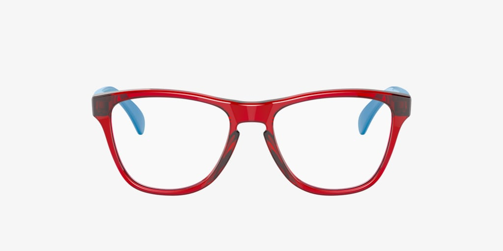 Oakley Youth OY8009 Rx FROGSKINS Transparent Red On Blue Eyeglasses
