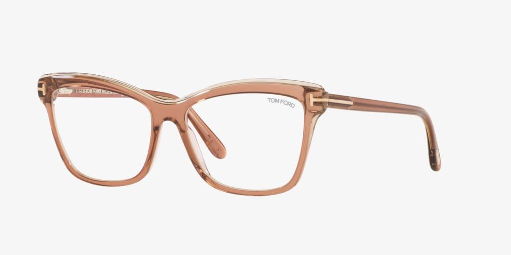 Tom Ford FT5619-B Brown Shiny Eyeglasses