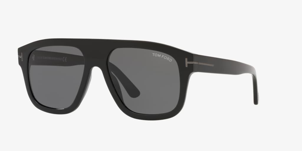 Tom Ford FT0777-N 56 Shiny Black Sunglasses