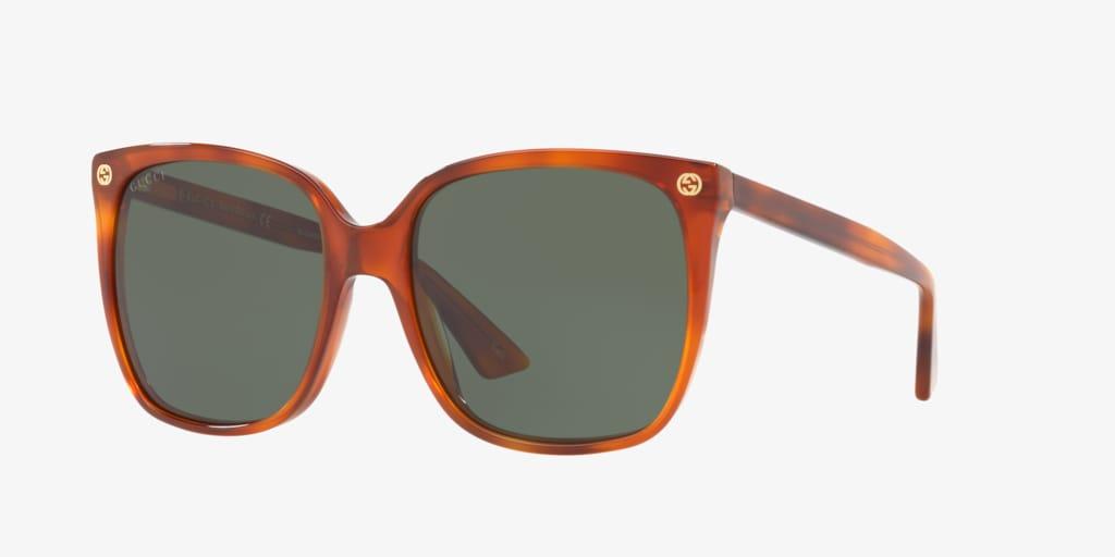 Gucci GG0022S 57 Tortoise Sunglasses