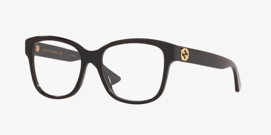 Gucci GG0038O Shiny Black Eyeglasses