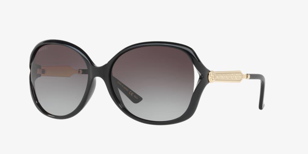 Gucci GG0076S 60 Black Sunglasses