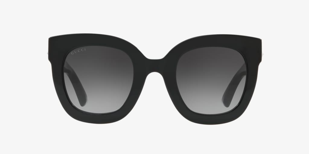 Gucci GG0208S 49 Shiny Black Sunglasses