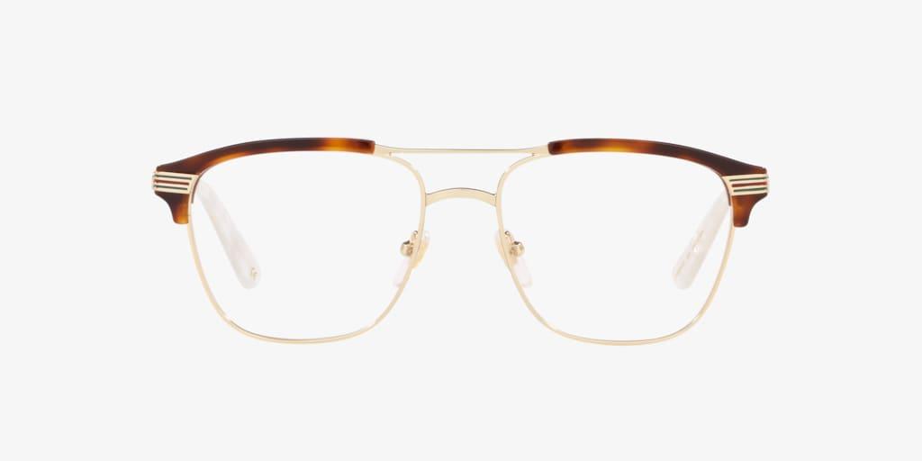 Gucci GG0241O Tortoise/Gold Eyeglasses