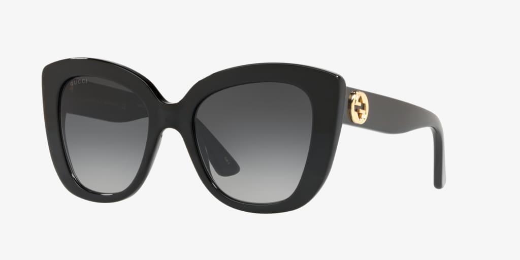 Gucci GG0327S 52 Shiny Black Sunglasses