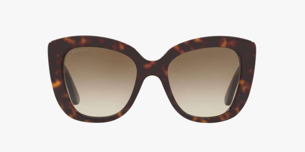 Gucci GG0327S 52 Tortoise Sunglasses