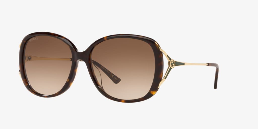 Gucci GG0649SK 58 Tortoise Sunglasses