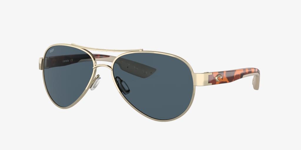 Costa Del Mar Loreto 59 Gold Sunglasses