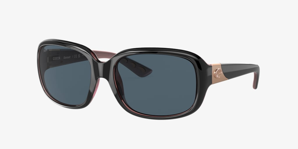 Costa Del Mar GANNET 58 Shiny Black Sunglasses